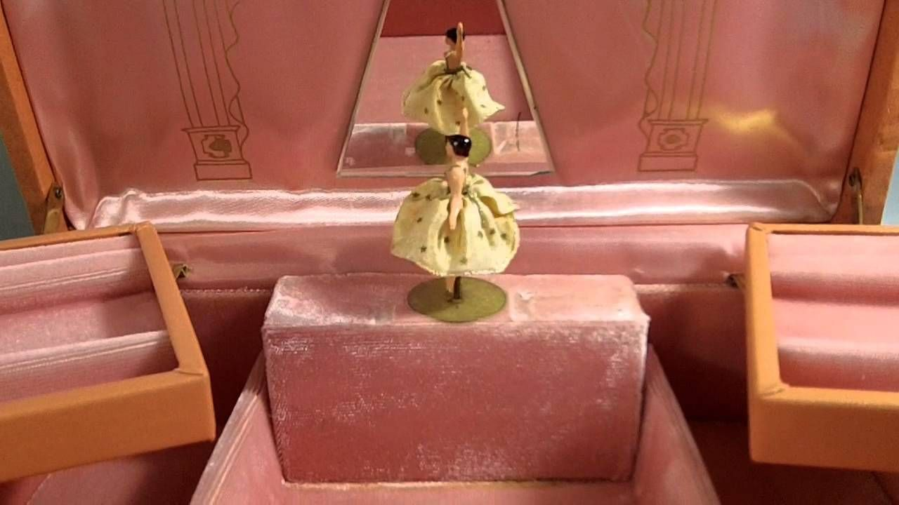 VINTAGE REUGE DANCING BALLERINA MUSIC JEWELRY BOX dancing darlings