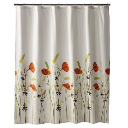 Spring Maid Chantal Shower Curtain From Target. I Like The Poppies.