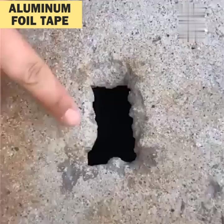 Butylkautschukband aus Aluminiumfolie, selbstklebend, wasserdicht für die Reparatur von Dachrohren -