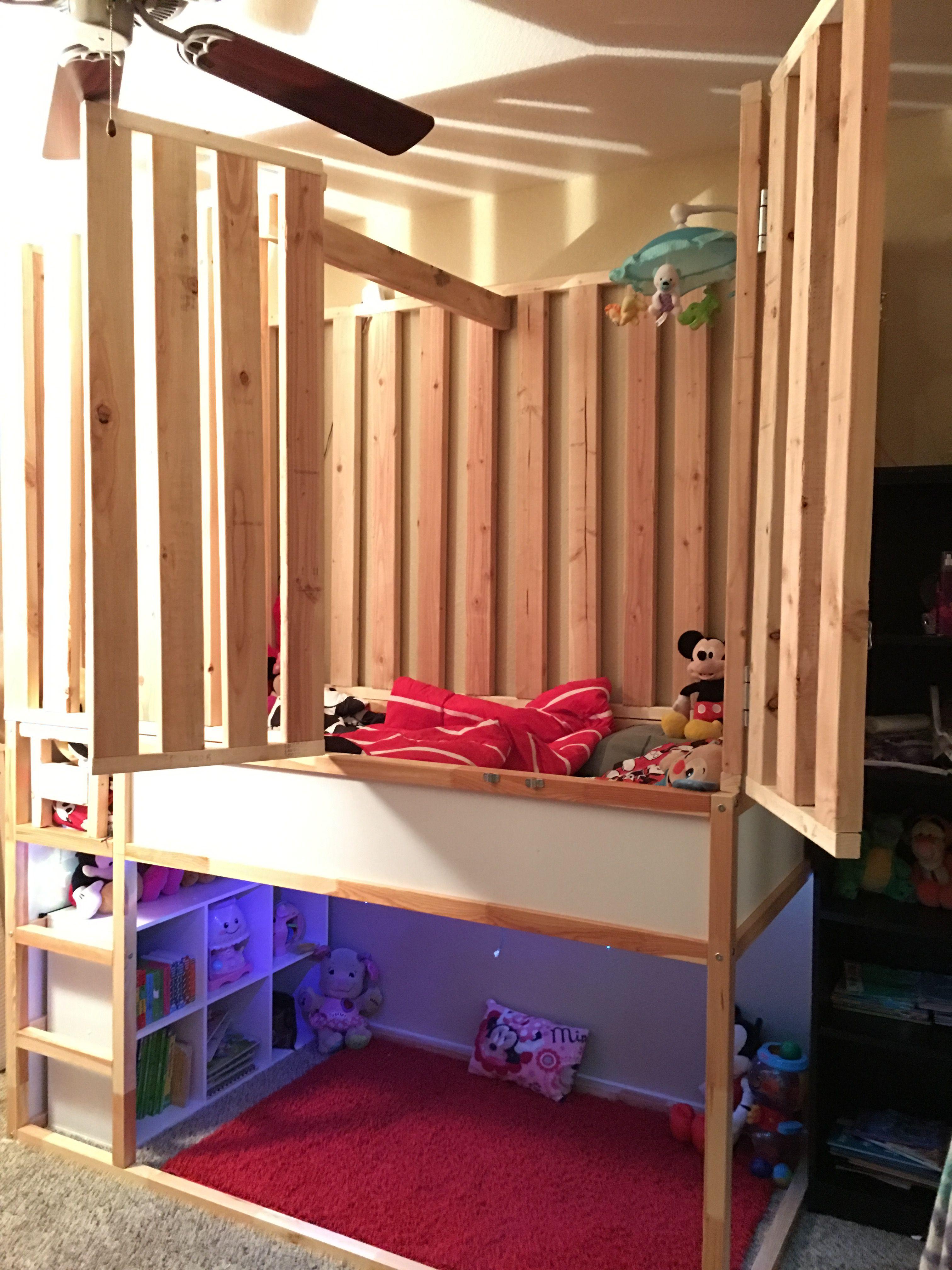 DIY Special Needs Bed Under 300 IKEA kura bed with