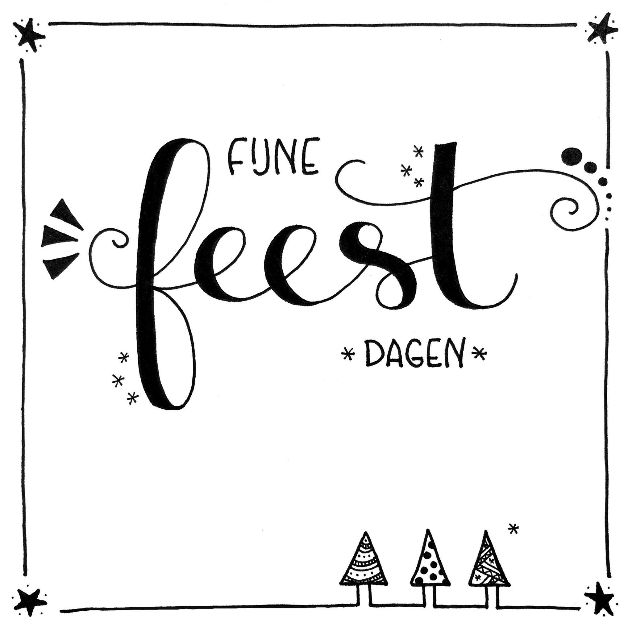 fijne feestdagen kerst kerst kaarten handlettering