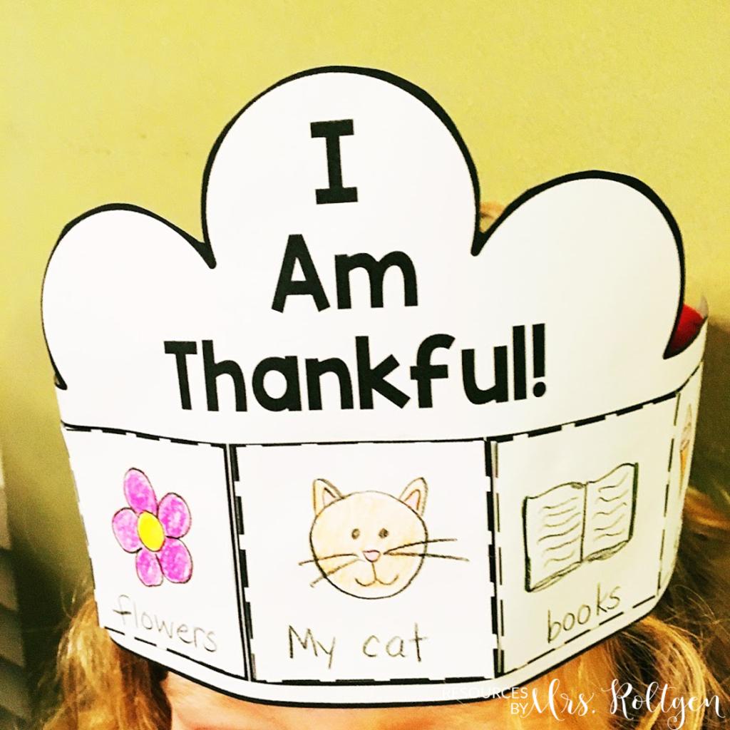 Thankful Activities For Kindergarten Plus A Freebie