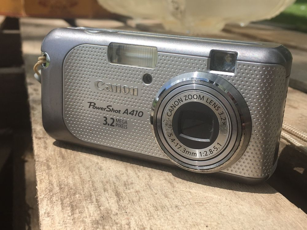 Canon Powershot A410 3 2 Mp Digital Camera Silver Ai Af Works Free Shipping Ebay Digital Camera Powershot Camera