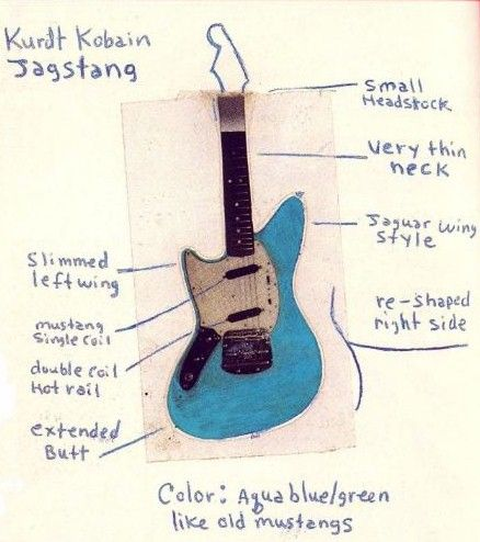 kurt cobain prototype for fender jag stang just random. Black Bedroom Furniture Sets. Home Design Ideas
