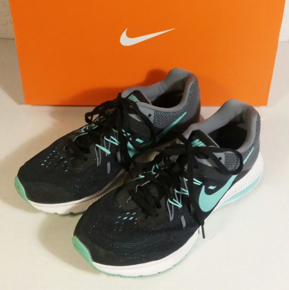 presidente Esencialmente Prueba de Derbeville  Women's Nike Zoom Winflo 2 Black Green Size 6.5 Running Shoes 807279 003  Cushlon | Womens running shoes, Nike, Nike zoom