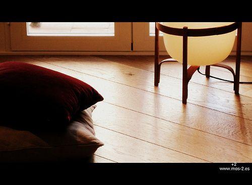 detalle del salón de #VIVIENDAcea. Fue un acierto colocar el suelo de madera de roble tarima de 18cm con acabado HardWaxOil