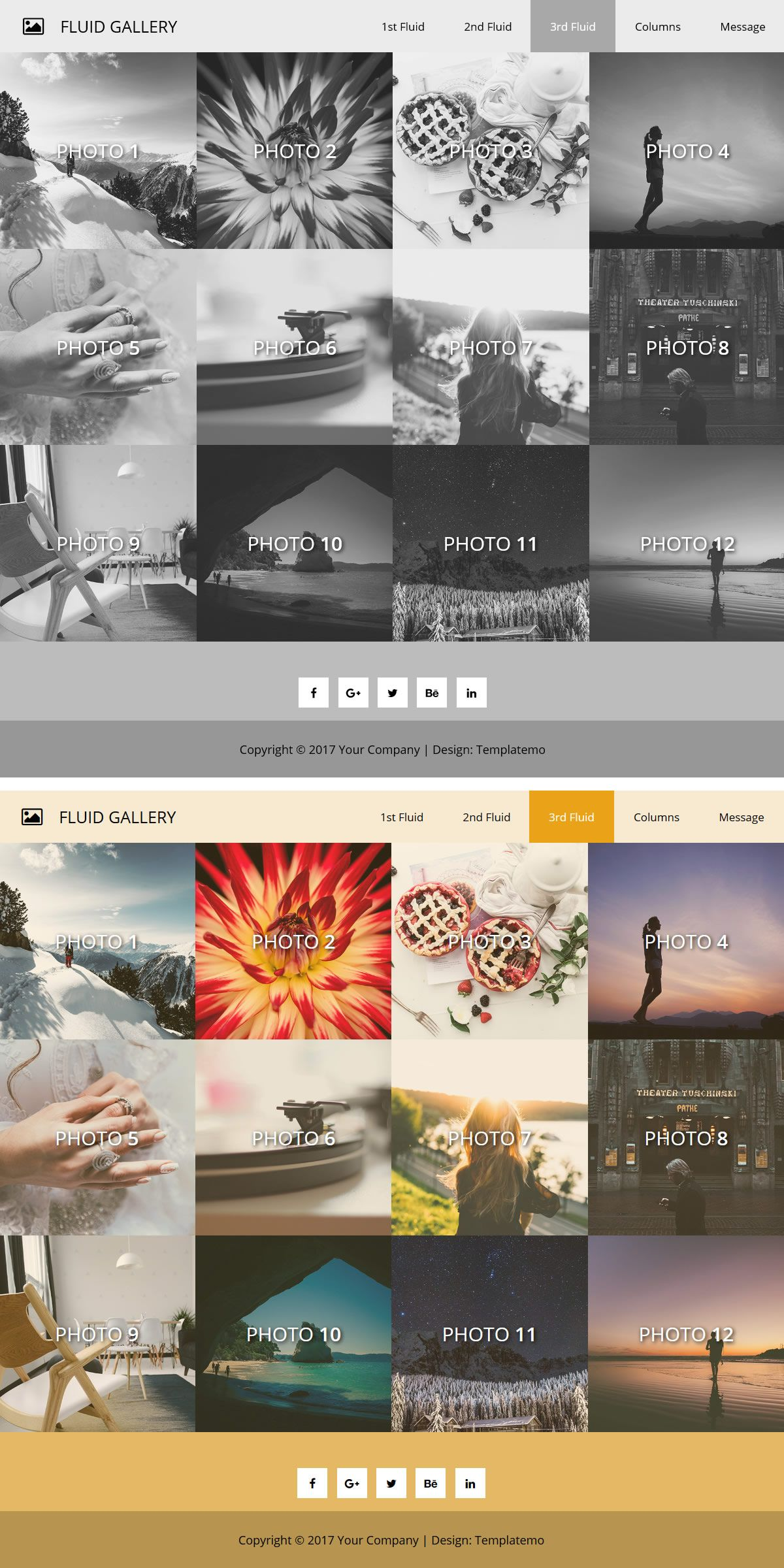 Full Width Image Gallery Html5 Css3 Bootstrap Layout For Responsiveness And Mobile In 2021 Baby Boy Shower Favors Cute Instagram Captions Baby Shower Cakes For Boys