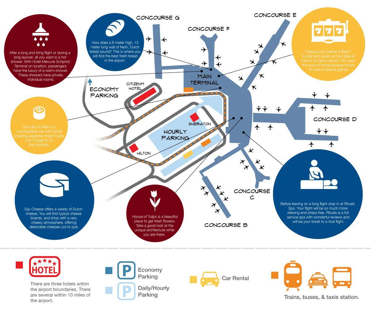 Map Of Amsterdam Schiphol International Airport