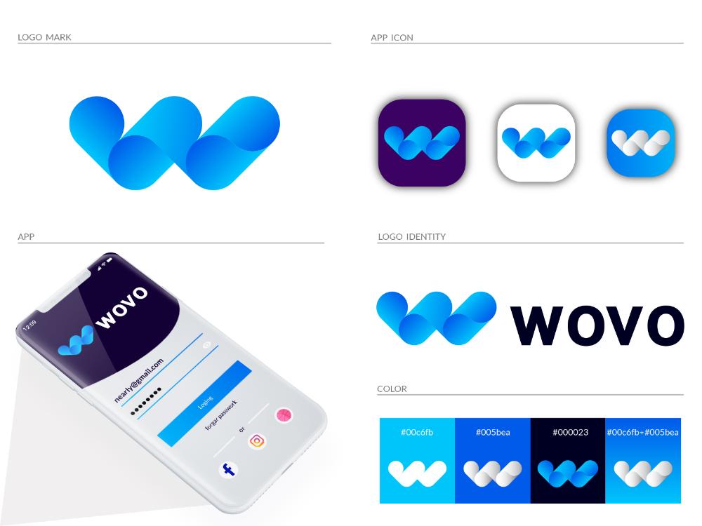 W Letters in 2020 Logo mark, App logo, Identity logo