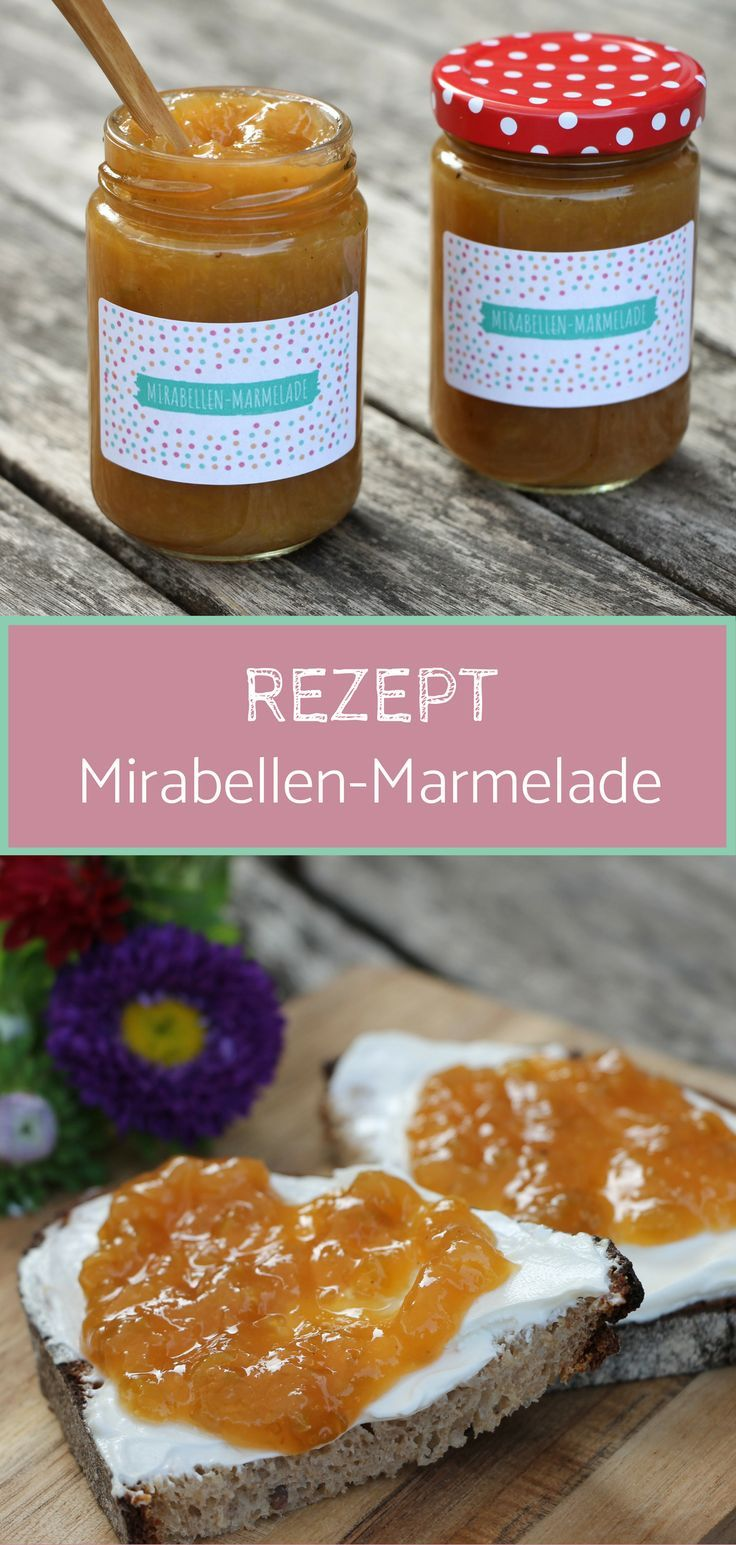 Rezept: Mirabellenmarmelade mit Vanille (inkl. Marmeladenetiketten-Freebie) - Lavendelblog