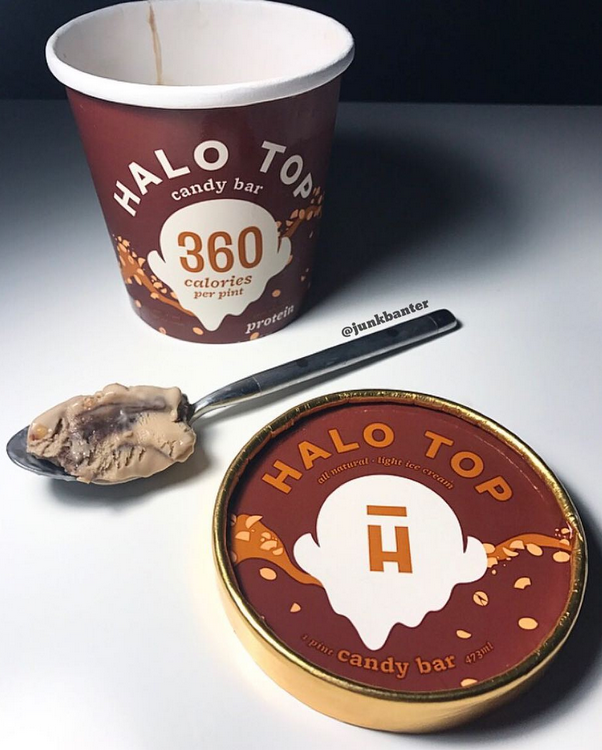 Halo Top Candy Bar Ice Cream