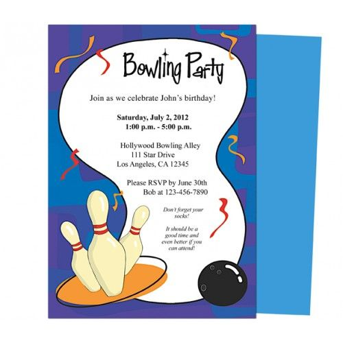 Bowling Invitation Template Birthday Invite Template Word Its A