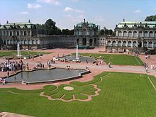 The Zwinger Der Dresdner Zwinger Is A Palace In Dresden Eastern Germany Built In Rococo Style And Designed By Court Architec Germany Castles Dresden Castle