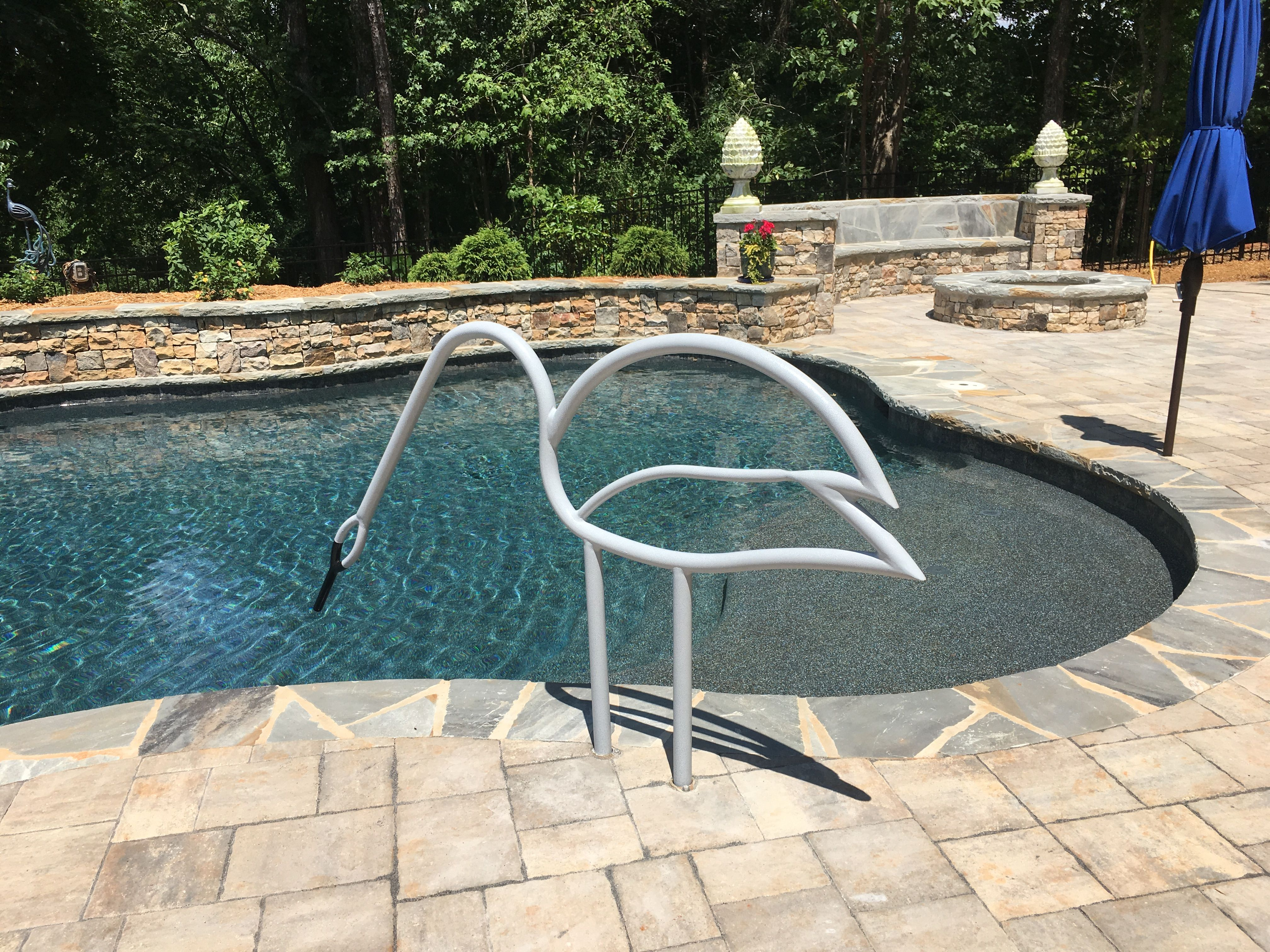 Beautiful Swan Pool Rail Pool Rails Swimming Pools Backyard Pool