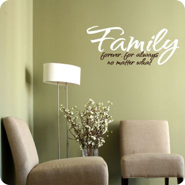 Family   Forever, For Always No Matter What (wall Decal From WallWritten.com