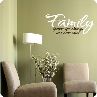 Family - No Matter What (script version) | Pinterest | Wall decals ...
