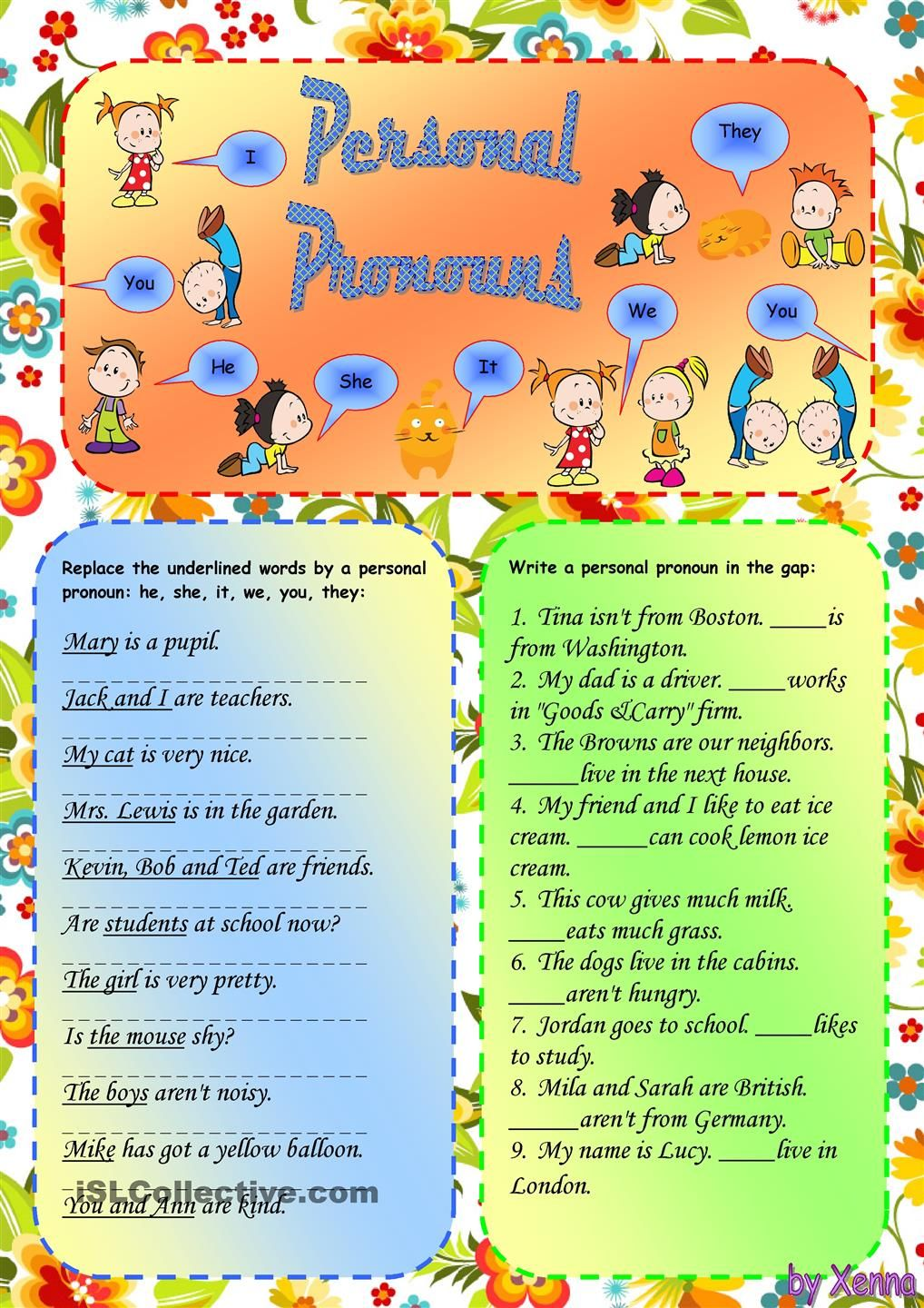 Personal Pronouns Personal Pronouns Learning Spanish Learning Spanish For Kids