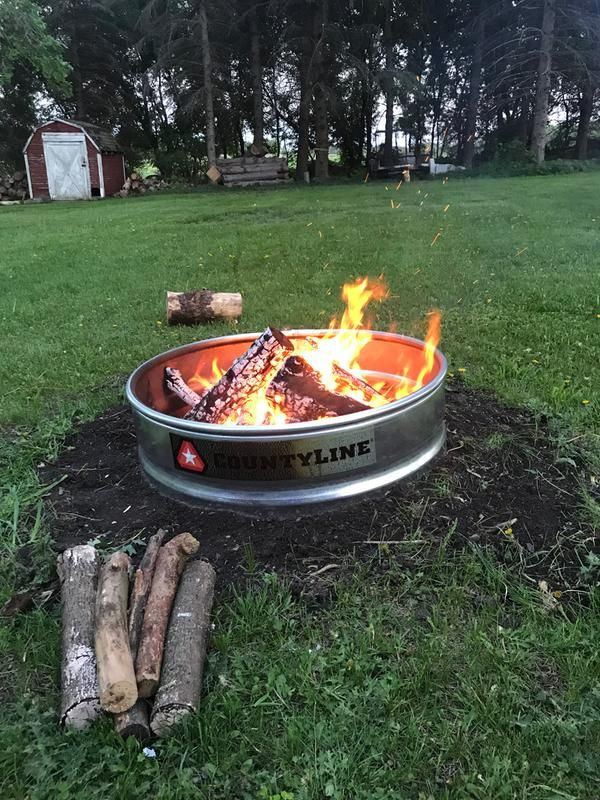 Love the fire pit so far! | Fire ring, Wood burning fire ...