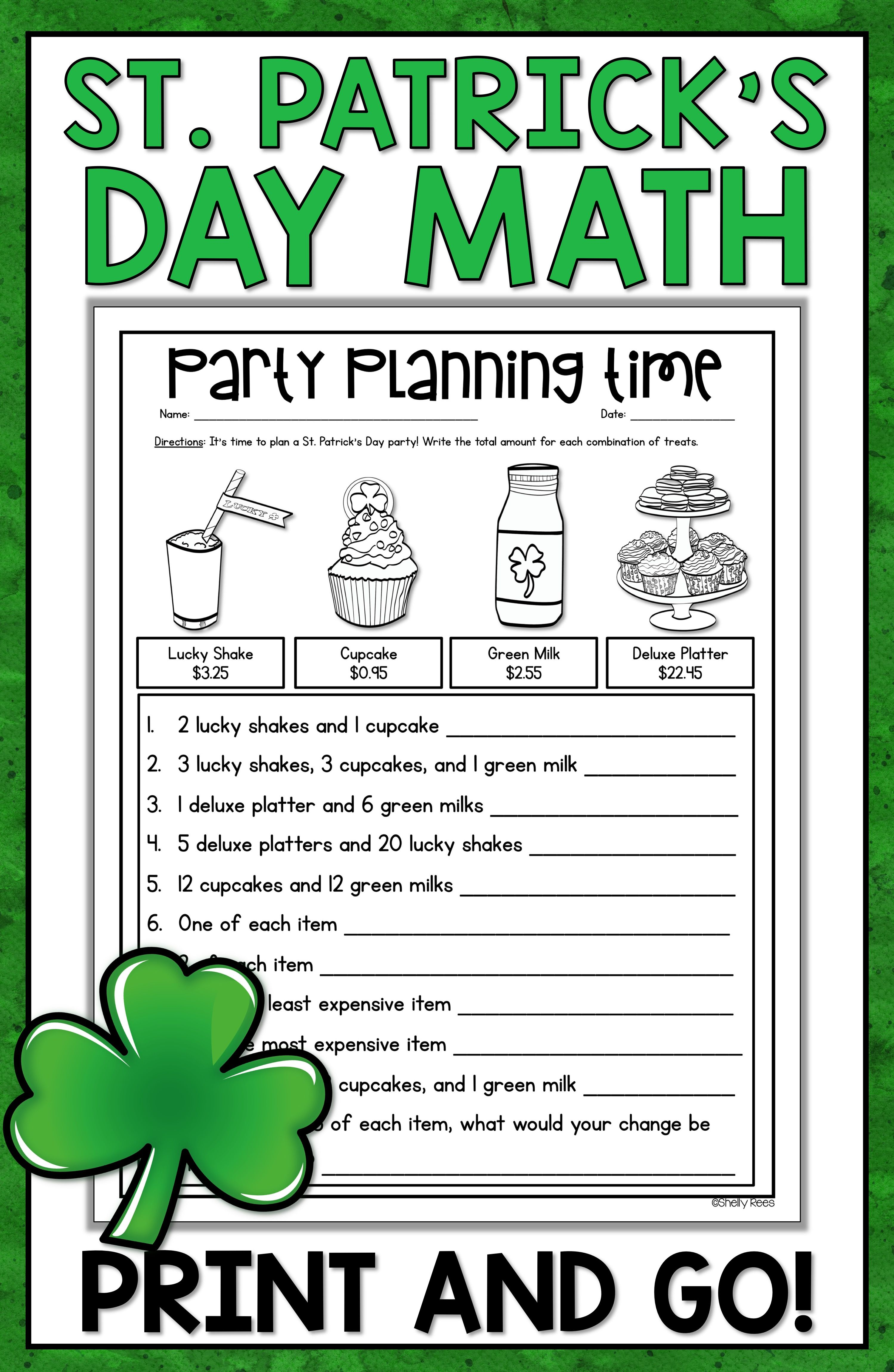 St Patrick S Day Worksheets For 1st Grade   Printable Worksheets and  Activities for Teachers [ 4599 x 2998 Pixel ]