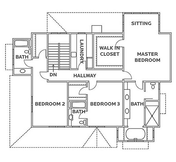 Second Floor I Think I Would Make The Bathroom On The Leftmost Side A Linen Closet Bedrooms Need House Floor Plans Home Design Floor Plans Floor Plan Design