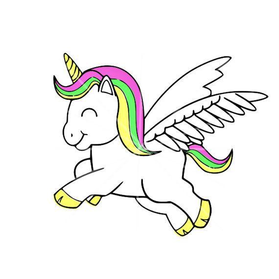 SVG Colorful Unicorn DXF Summer Colors Pastel Digital Cut