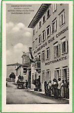 CASTELLAVAZZO BELLUNO ALBERGO DUE CORONE ANIMATA 1925 SUPER ! ! !