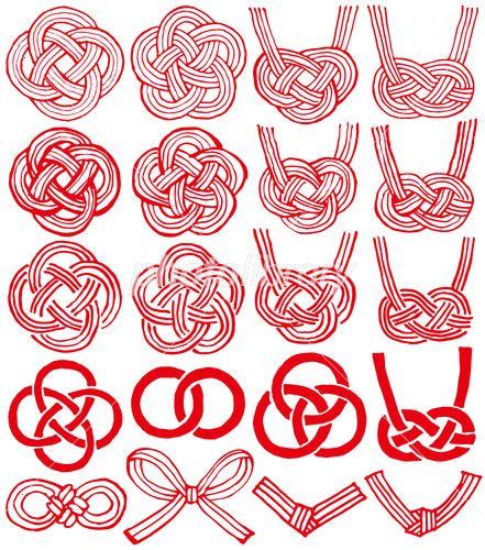 水引 手書き風 ベクター素材 イラスト素材 Japanese Graphic Design