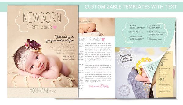 Newborn Magazine Welcome Packet Template {1st Edition} Template