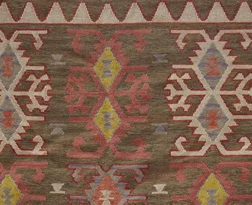 pottery barn marcel kilim indoor/outdoor rug 8x10 southwest