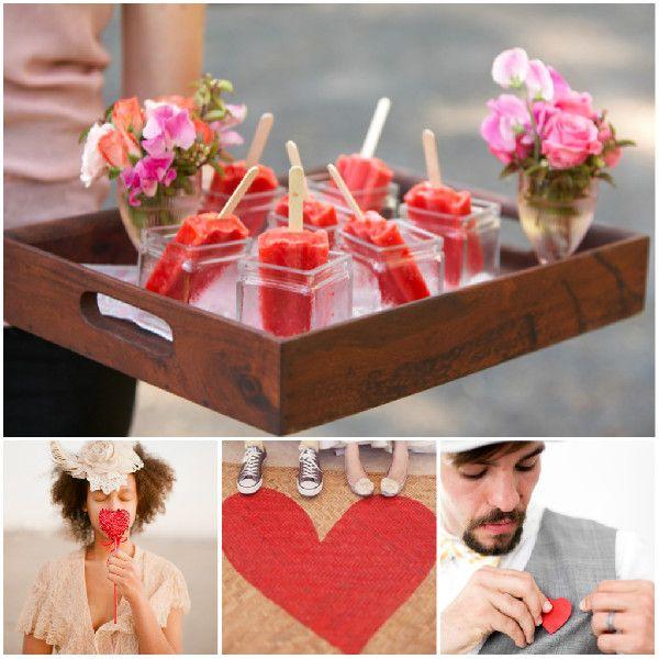 Pink Rot Valentinstag Hochzeit Ideen Herz Liebe Hochzeiten Essen Und  Dekoration 2014 Pink U0026 Rot Valentinstag