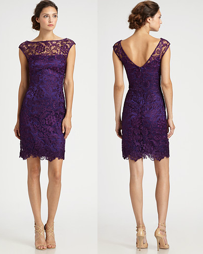Purple lace bridesmaid dress. If I could find this on a website i ...