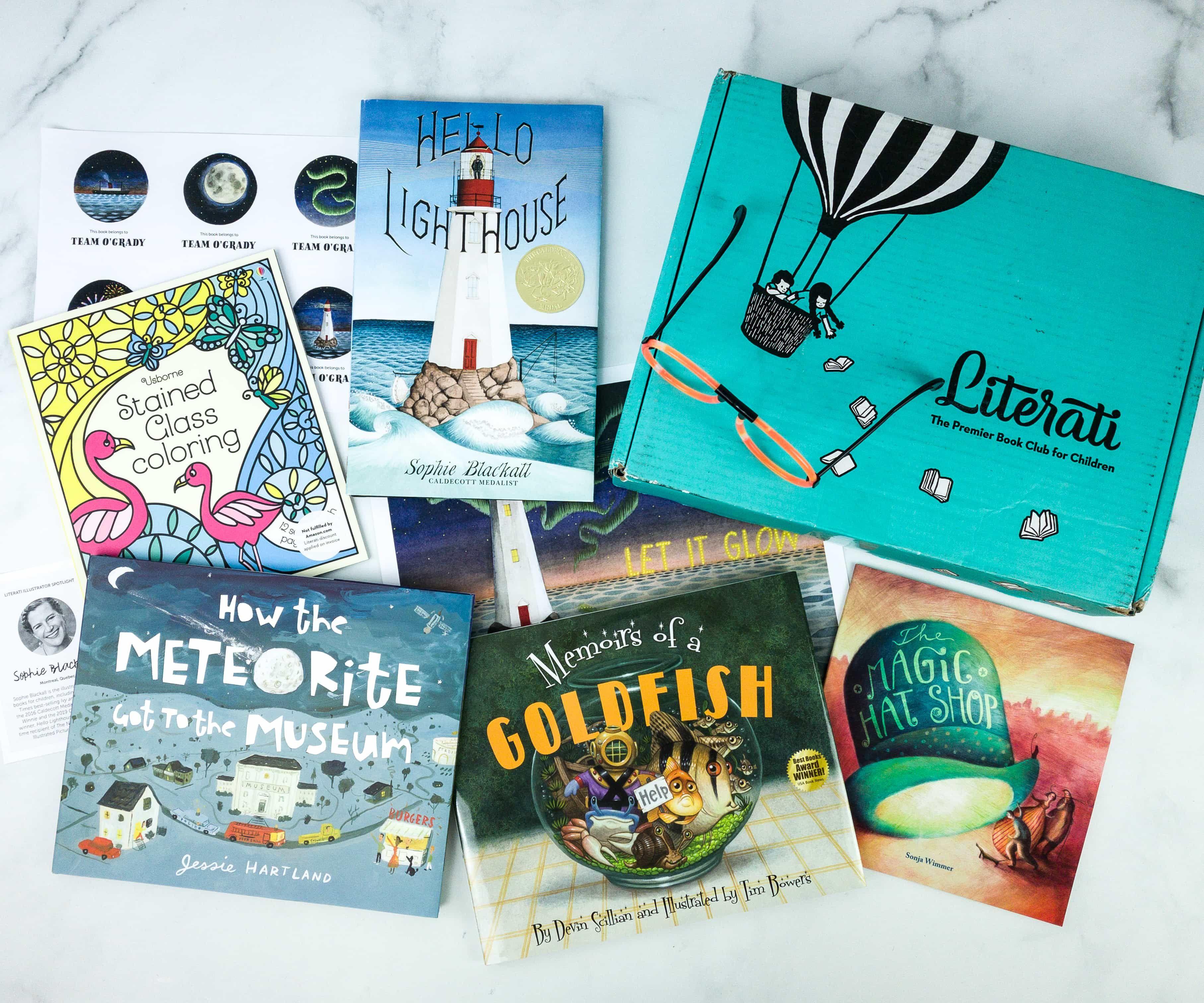 Literati Book subscription box, Book subscription