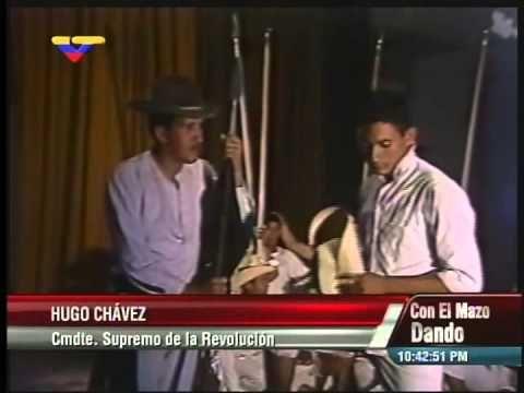 Hugo Chávez en 1985-86 interpreta a Páez en una obra de teatro en Academ...
