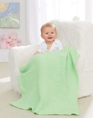 Loops & Threads® Snuggly Wuggly™ Big One Ball Baby Blanket (Crochet)