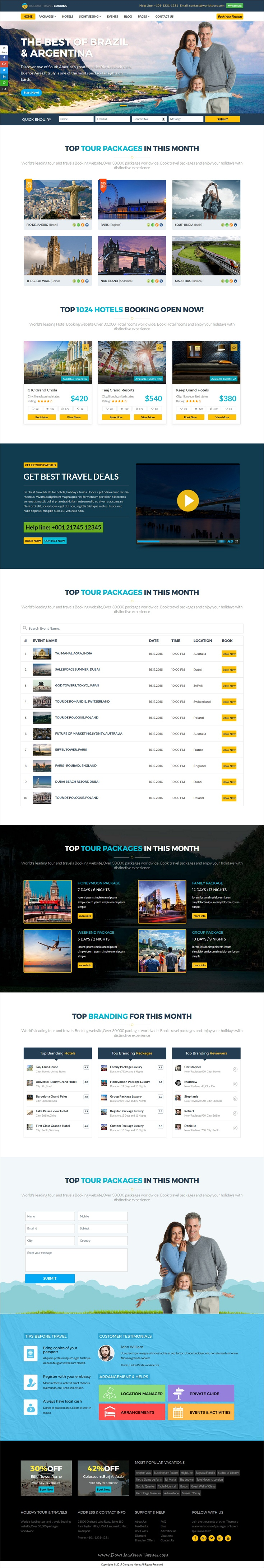 Holiday is a best responsive #HTML5 #bootstrap template for #hotel, #tour and #travel online ticket booking website download now➩  https://themeforest.net/item/holiday-hotel-and-tour-ticket-booking-online-html5-responsive-template/19411137?ref=Datasata