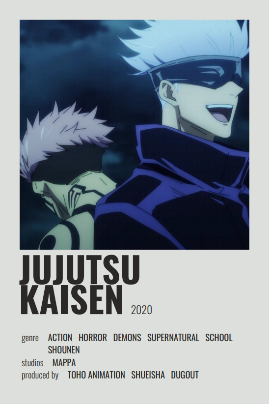 Jujutsu Kaisen In 2021 Anime Films Anime Reccomendations Anime Printables