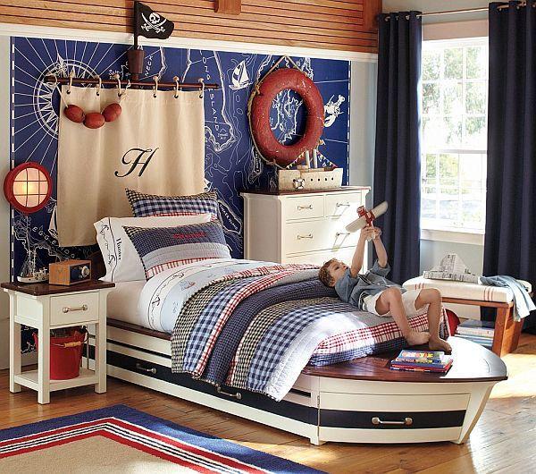 Maritimes Schlafzimmer Schlafzimmer In Weiß Und Blau Einrichten