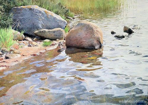 25 Realistic Watercolor Paintings By Stanislaw Zoladz Watercolor