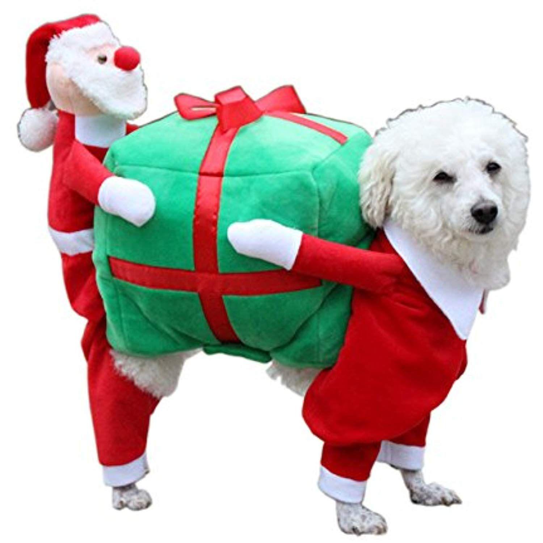 Rhumen Pet Costume Dog Costume Pet Suit Santa Rider Style Dog