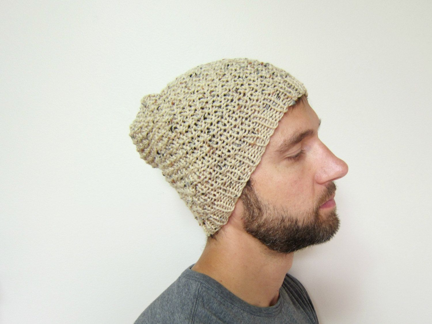 9fe1d21e1eb Mens Slouchy Beanie Knit Guys Hat Knitted Man Hat Handmade Beanies Etsy  Crochet Accessories Ladies Cap Beige Autumn Knits Fashion Winter - pinned  by ...