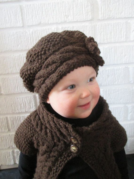 KNITTING PATTERN Hat - PDF knitting pattern slouch hat - knit ...
