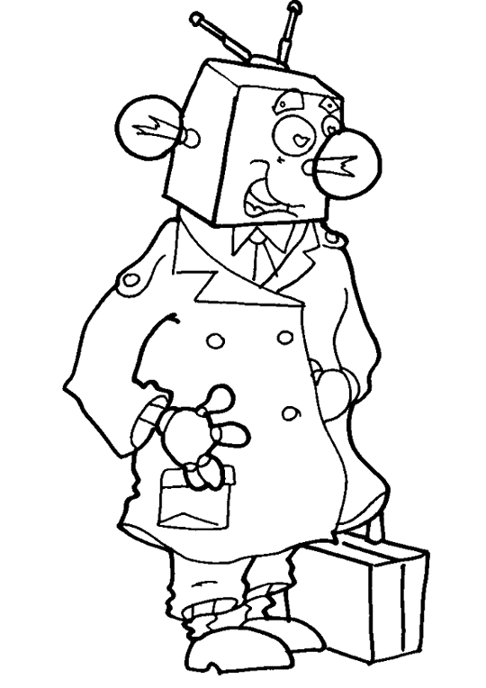 The Most Clever Robots Coloring Pages | Robot Coloring Pages ...