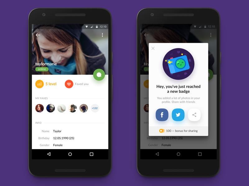Profile Screen — Chat [Android App] Iphone app design