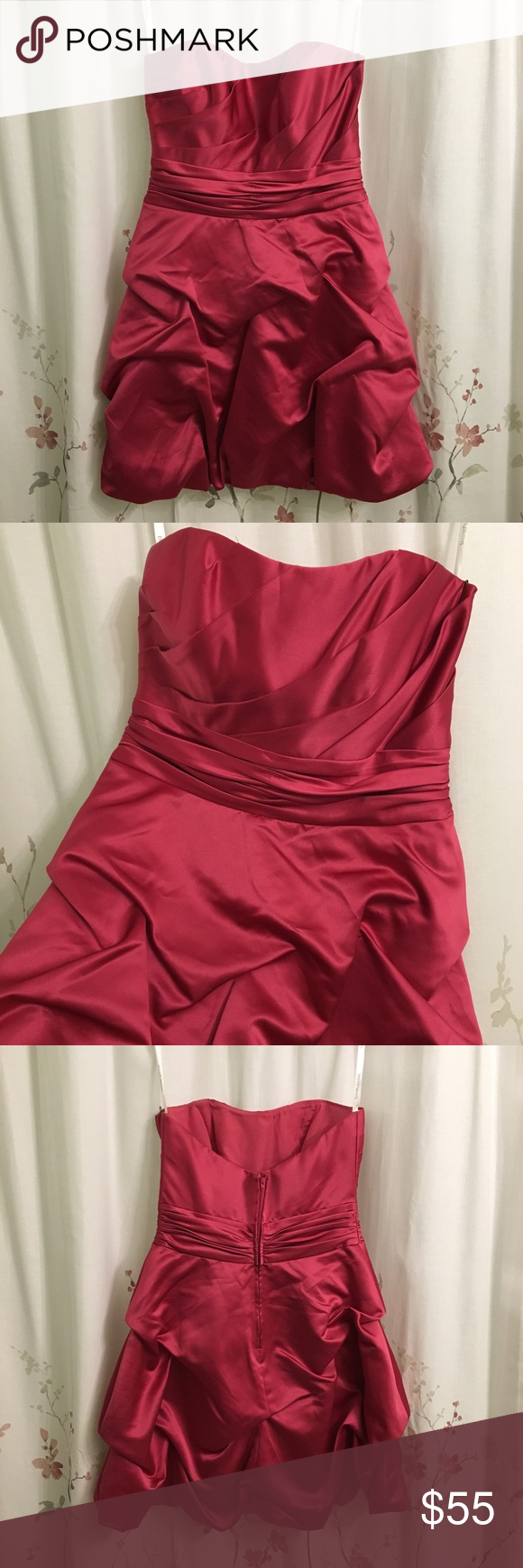 Davidus bridal pink bridesmaidcocktailprom dress my posh picks