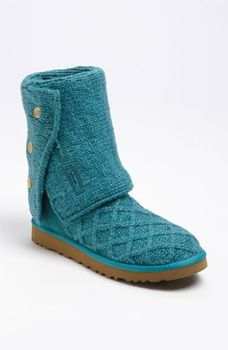 UGG Australia 'Lattice Cardy' Boot Womens Metallic Deep Aqua ...