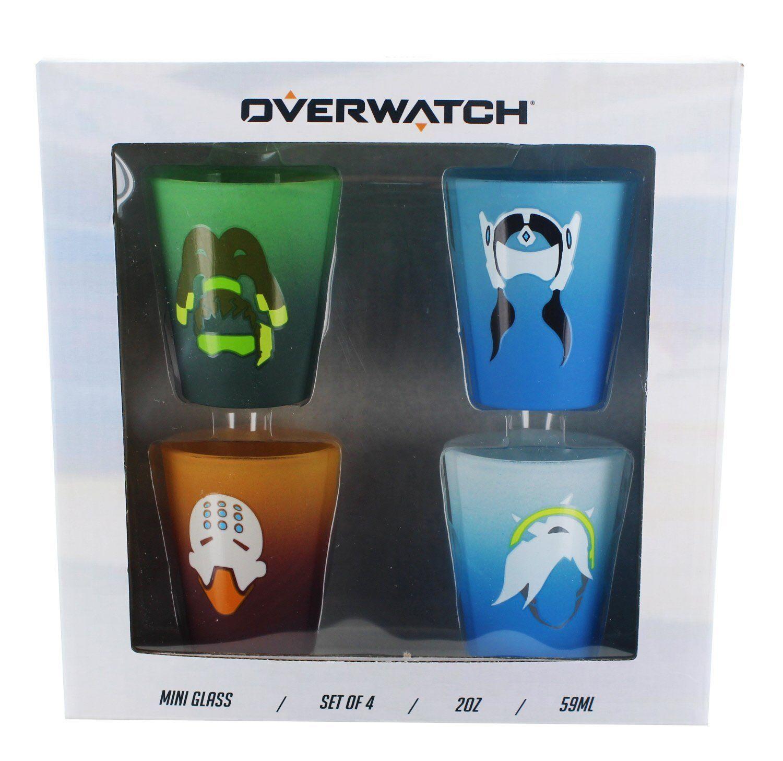 Overwatch shot glass 4pack gamer girl gamer boy shot