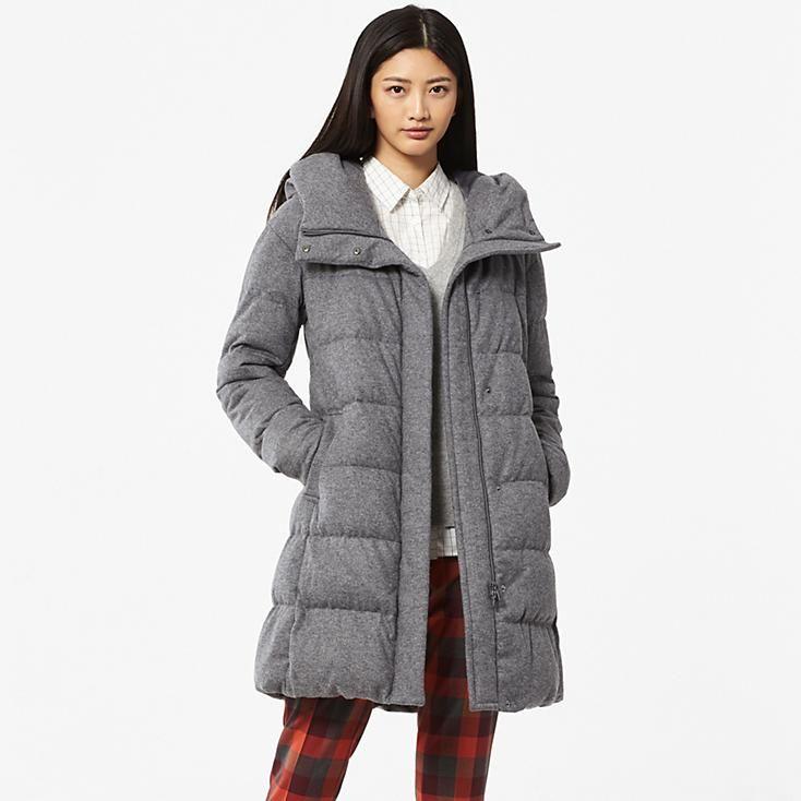 Uniglo--WOMEN STRETCH WOOL BLENDED DOWN COAT--Reg. $169.90 on sale ...