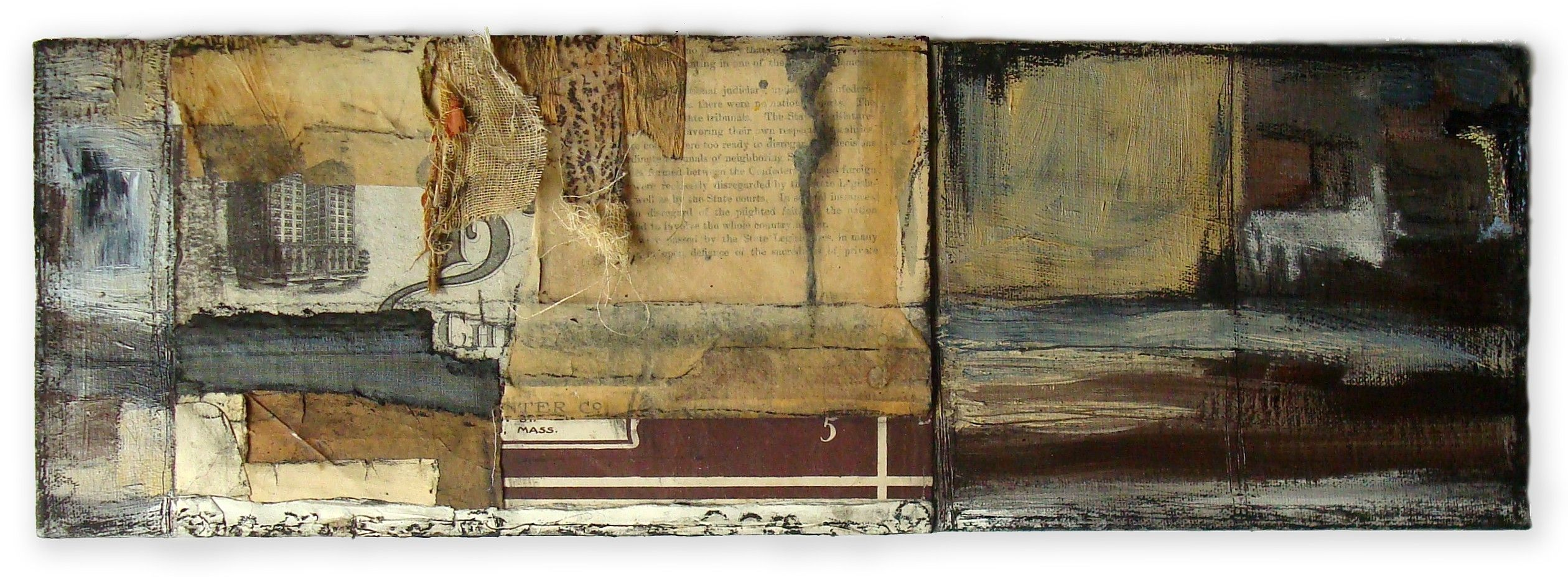 """""""I Was Afraid and so I Hid"""" Triptych panel 2"""