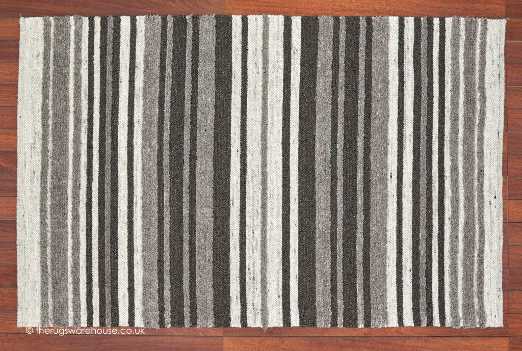 City Stripes Brown Rug A Luxury Multi Textured Striped Wool In