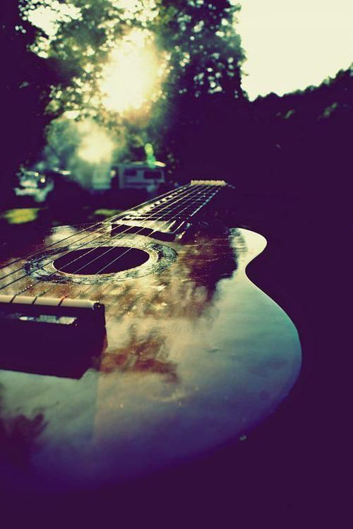 ♫♪ Music ♪♫ instrument guitar on summer afternoons